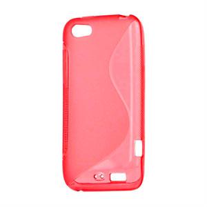 Billede af HTC One V TPU S-line cover fra inCover - rød