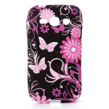 Billede af Samsung Galaxy Ace 3 inCover TPU Cover - Black Butterfly
