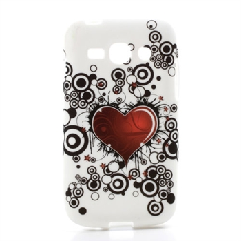 Billede af Samsung Galaxy Ace 3 inCover TPU Cover - Red Heart
