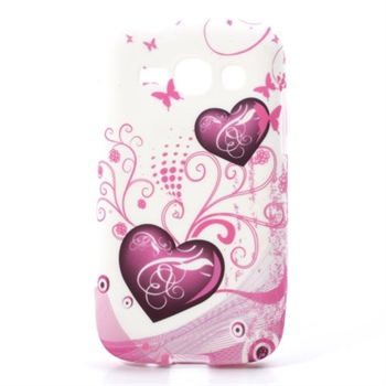 Billede af Samsung Galaxy Ace 3 inCover TPU Cover - Two Hearts