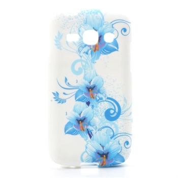 Billede af Samsung Galaxy Ace 3 inCover TPU Cover - Blue Flower