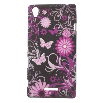 Billede af Sony Xperia T3 inCover Design TPU Cover - Black Butterfly