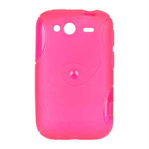 HTC Wildfire S TPU S-line cover fra inCover - rosa
