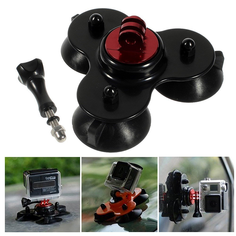Image of   GearMate Triple Sugekop Mount til GoPro Hero 4/3/2/1