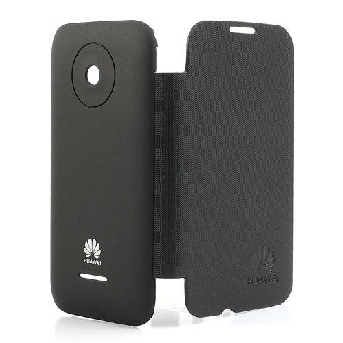 Image of Huawei Ascend Y210 Bagplade m. Flip Cover - Sort