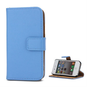Apple iPhone 4S FlipStand Taske/Etui - Lys Blå