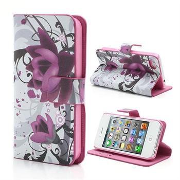 Apple iPhone 4S FlipStand Taske/Etui - Lotus Flower