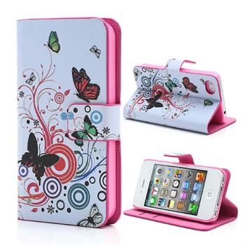 Apple iPhone 4S FlipStand Taske/Etui - Vivid Butterfly