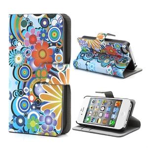 Image of Apple iPhone 4S FlipStand Taske/Etui - Flower Power