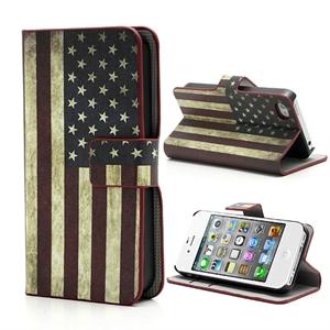 Apple iPhone 4S FlipStand Taske/Etui - Stars And Stripes