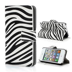 Apple iPhone 4S FlipStand Taske/Etui - Zebra