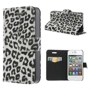 Apple iPhone 4S FlipStand Taske/Etui - White Leopard