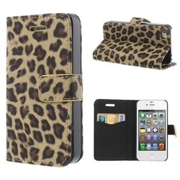 Apple iPhone 4S FlipStand Taske/Etui - Brown Leopard