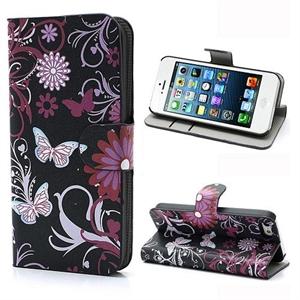 Billede af Apple iPhone 5/5S FlipStand Taske/Etui - Black Butterfly