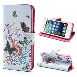 Billede af Apple iPhone 5/5S FlipStand Taske/Etui - Vivid Butterfly