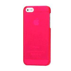 Image of   Apple iPhone 5/5S Plastik cover fra inCover - gennemsigtig rosa