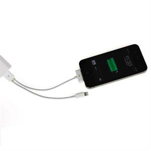 Billede af Lightning og 30 pins USB KOMBI oplade og datakabel til Apple - Hvid