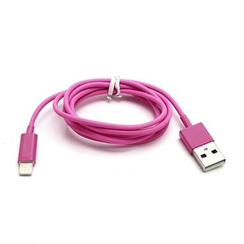 Billede af Lightning USB Oplade- og Datakabel til Apple - Rosa 1M