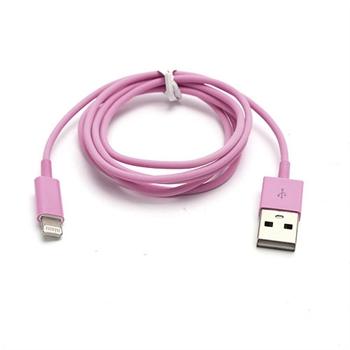 Billede af Lightning USB Oplade- og Datakabel til Apple - Pink 1M
