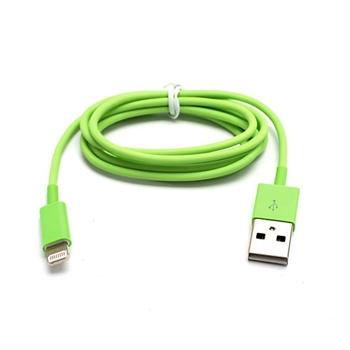 Billede af Lightning USB Oplade- og Datakabel til Apple - Grøn 1M