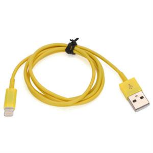 Billede af Lightning USB oplade og datakabel til Apple - gul 1 meter
