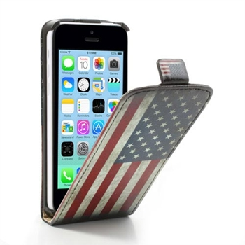 Apple iPhone 5C FlipCase Taske/Etui - Stars & Stripes