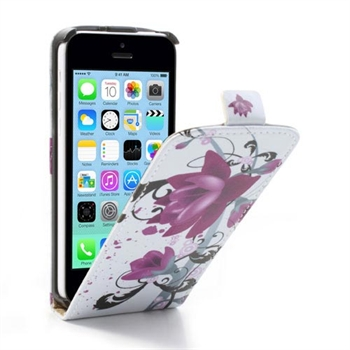 Image of Apple iPhone 5C FlipCase Taske/Etui - Lotus Flower