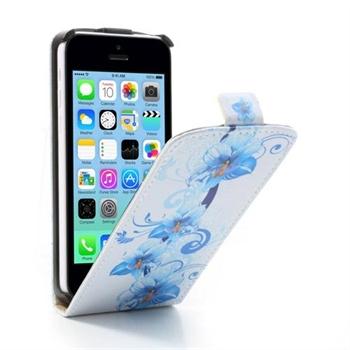Image of Apple iPhone 5C FlipCase Taske/Etui - Blue Flower