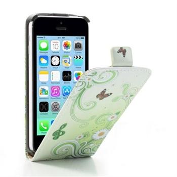 Image of Apple iPhone 5C FlipCase Taske/Etui - Green Flower