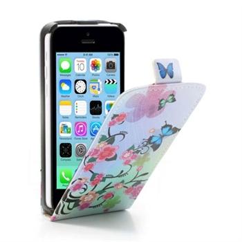 Image of Apple iPhone 5C FlipCase Taske/Etui - Blue Butterfly