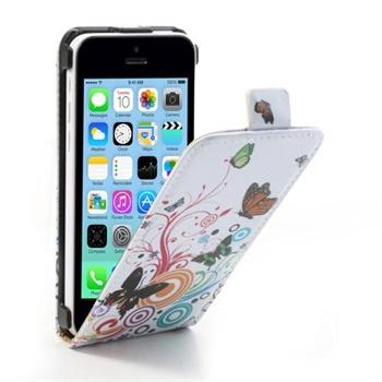 Apple iPhone 5C FlipCase Taske/Etui - Vivid Butterfly