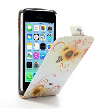 Apple iPhone 5C FlipCase Taske/Etui - Yellow Flower