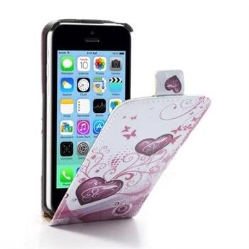 Billede af Apple iPhone 5C FlipCase Taske/Etui - Two Hearts