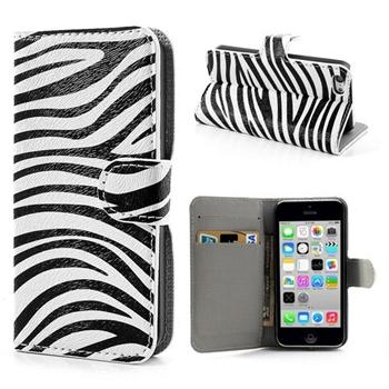 Billede af Apple iPhone 5C FlipStand Taske/Etui - Zebra