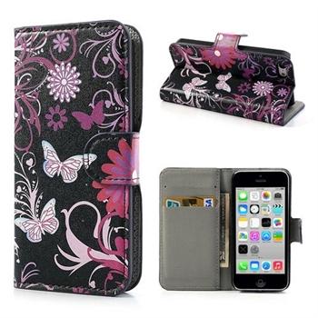 Apple iPhone 5C FlipStand Taske/Etui - Black Butterfly