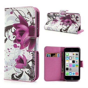 Apple iPhone 5C FlipStand Taske/Etui - Lotus Flower