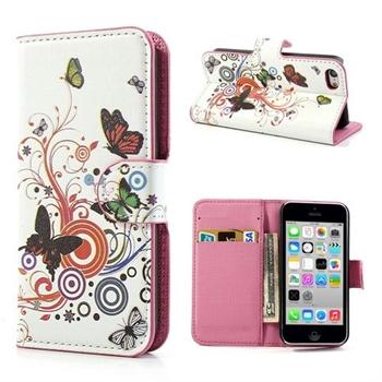 Billede af Apple iPhone 5C FlipStand Taske/Etui - Vivid Butterfly