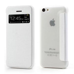 Image of   Apple iPhone 5C FlipCase Window Taske/Etui - Hvid