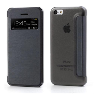 Apple iPhone 5C FlipCase Window Taske/Etui - Sort