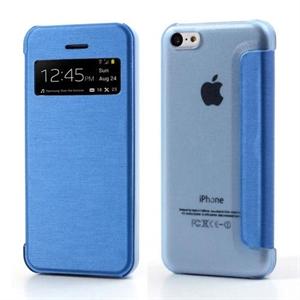 Apple iPhone 5C FlipCase Window Taske/Etui - Blå