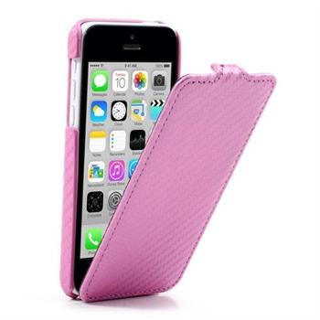 Image of Apple iPhone 5C FlipCase Taske/Etui - Pink Carbon