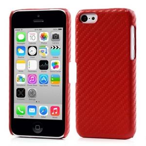 Apple iPhone 5C inCover Design Plastik Cover - Rød Carbon