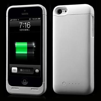Image of Apple iPhone 5C Ekstra Batteri Kapacitet På 2200mAh - Hvid