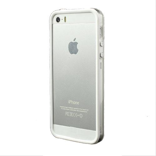 Image of   iPhone 5/5s/SE TPU Bumper - Gennemsigtig/Hvid