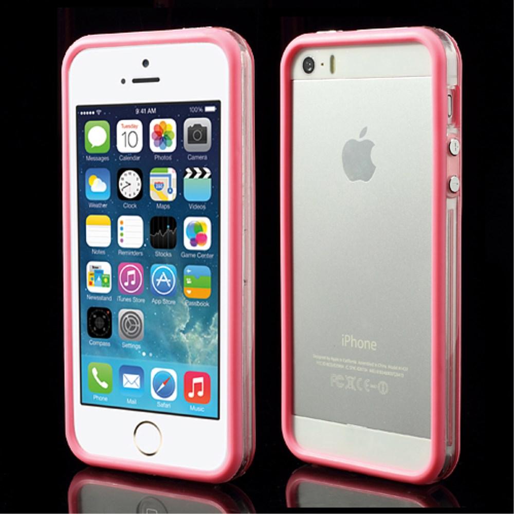 Billede af iPhone 5/5s/SE TPU Bumper - Gennemsigtig/Pink