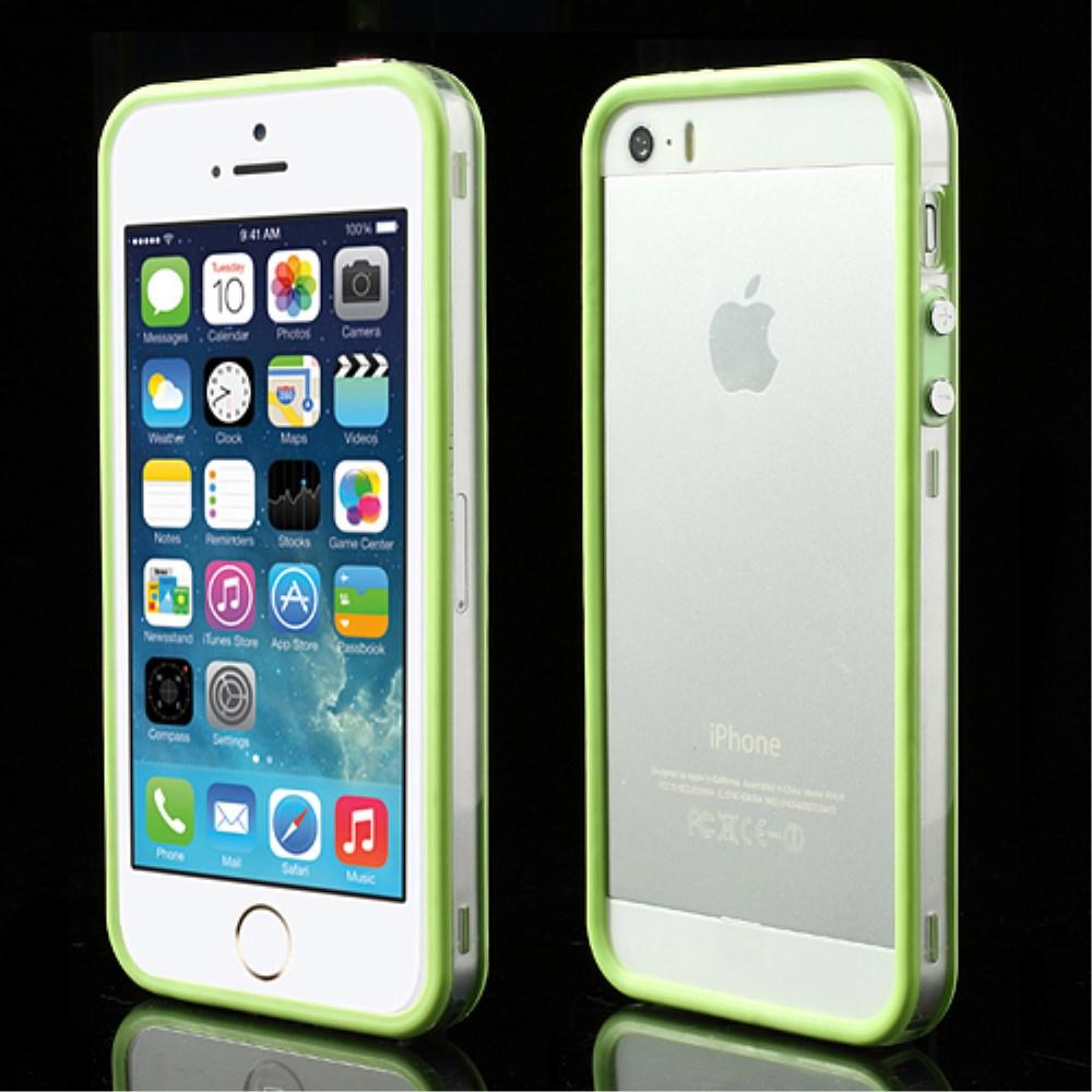 Billede af iPhone 5/5s/SE TPU Bumper - Gennemsigtig/Grøn