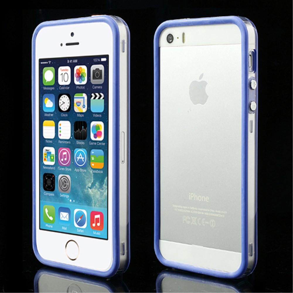 Billede af iPhone 5/5s/SE TPU Bumper - Gennemsigtig/Blå