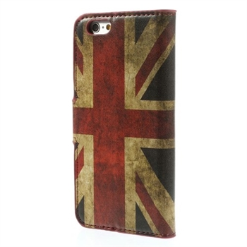 Image of   Apple iPhone 6/6s Design Flip Cover Med Pung - Union Jack