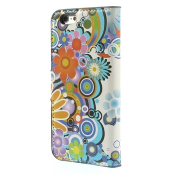 Image of   Apple iPhone 6/6s Design Flip Cover Med Pung - Flower Power
