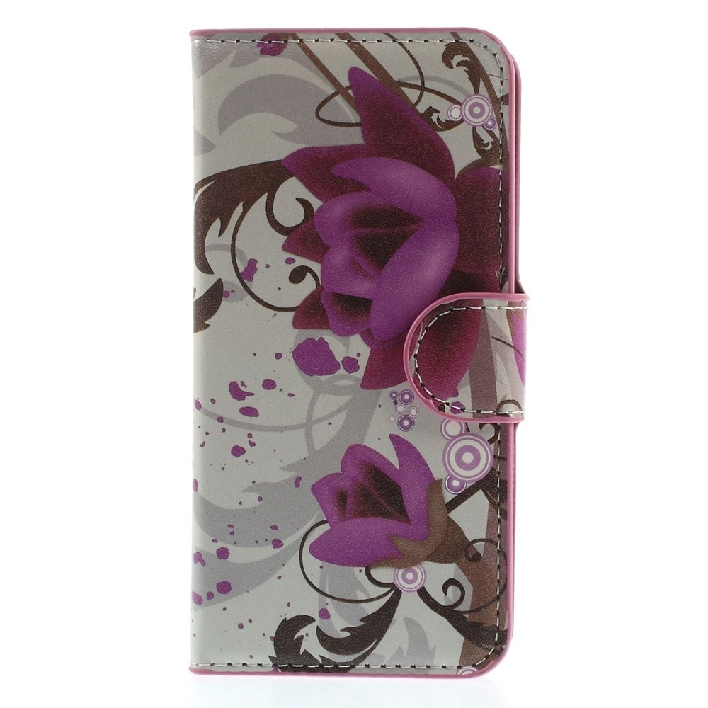 Image of   Apple iPhone 6/6s Design Flip Cover Med Pung - Lotus Flower